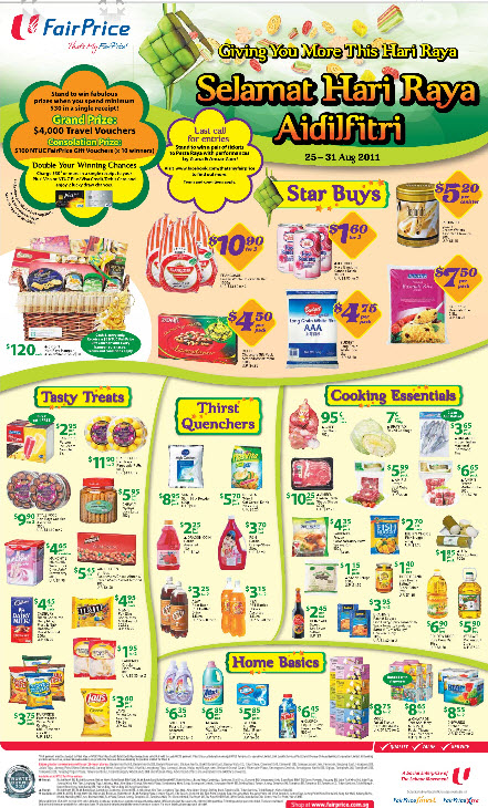 Fairprice Supermarket Weekly Promotions 25 Aug 2011 31
