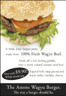 Astons Wagyu Burger promo ads