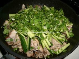 BBQ pork salad pics