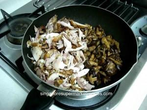 Chicken & butter mushroom