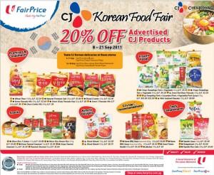 Fairprice korean fair (week 36)