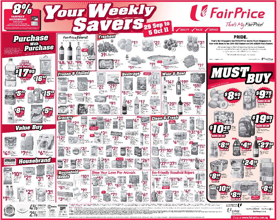 Fairprice Weekly Promotion 1 Week 39