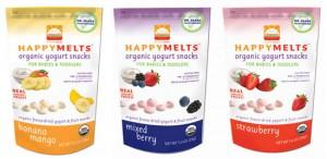 happy melts organic yogurt snacks