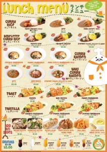 mr curry lunch menu