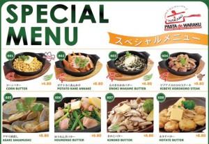 pasta de waraku special menu 1