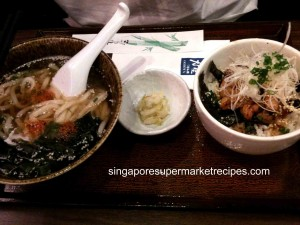 udon & chicken set