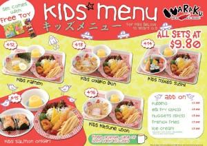 waraku kids menu