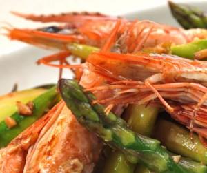 yakiyakibo shrimp & asparagus