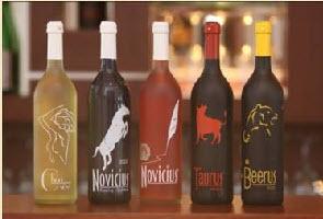 Bacchus wine