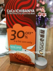 Coco curry promotion 2 - 4 Oct