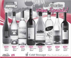 Cold Storage supermarket wine promotions