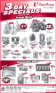 Fairprice 3 days special supermarket promotions