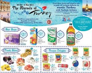 Fairprice turkish supermarkets promotions