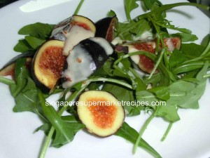 Figs & Wild Rocket Salad with Roasted Nut Dressing