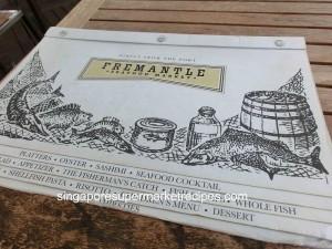Frementle Seafood Market Menu Cover