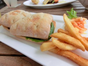 Frementle Seafood Market Wagyu Beef BLT with Fries & Guava Salad