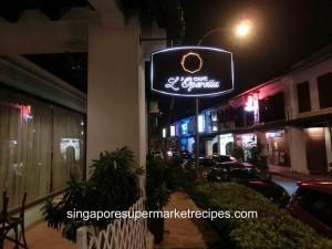 L Operetta Cafe Signboard
