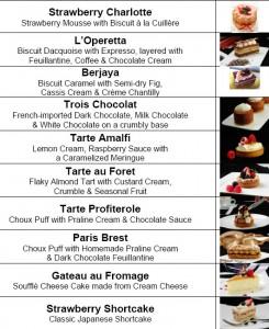 L' Operetta Cake Selection