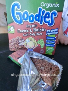 Organic Goodies Cereal Bar for Kids Actual Bar