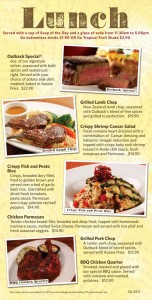 Outback Steakhouse Lunch Specials menu