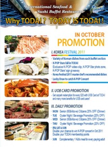 Todai Korea Festival Buffet Promotions