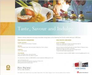 UOB Promotions at Pan Pancific Singapore