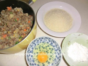 preparation for frying