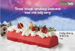 Breadtalk Log Cakes Holly Berry