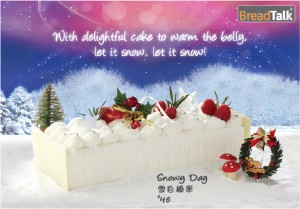 Breadtalk Log Cakes Snowy Day