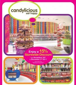 Candylicious 15percent storewide discount