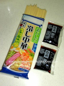 Daiso Cold Noodles & Packet Sauce