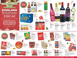 Fairprice supermarket christmas promotions