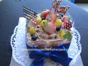 Flor Cake mont blanc cake happy birthday