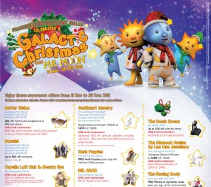 Frasers centerpoint malls galactic christmas celebrations