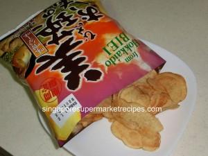 Hokkaido Fair 2011 Meidiya Miso Butter Potato Chips Inside