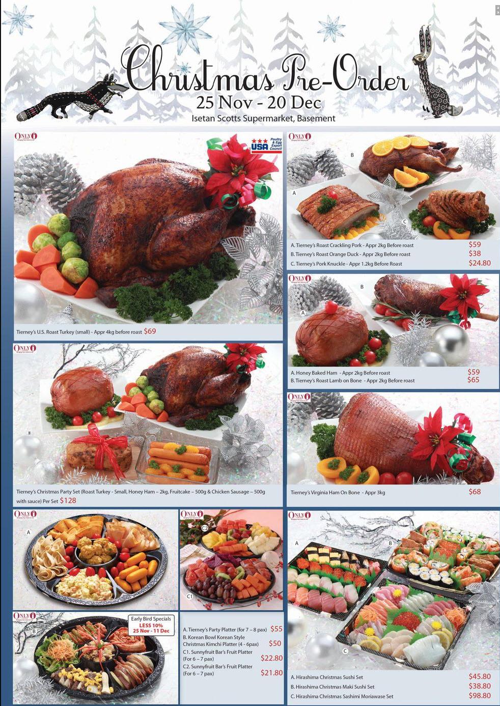 Christmas Meat Platter Ideas.Christmas Takeaways Ideas Singapore Isetan Scotts