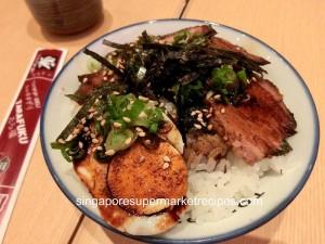 Tampopo at Takashimaya mini cha siew rice bowl