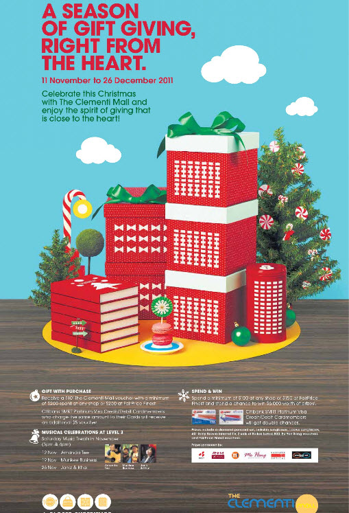 CLEMENTI MALL CHRISTMAS CELEBRATIONS AND PROMOTIONS 2011