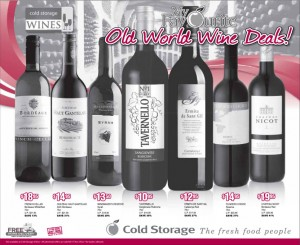 cold storage supermarket wine promotions