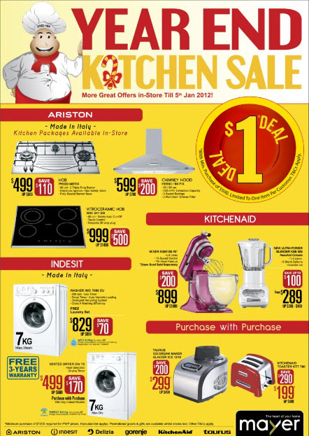 MAYER YEAR END KITCHEN SALE – SAVE NEARLY $500 FOR KITCHEN ...