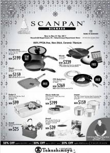 takashimaya scanpan kitchenware promotions
