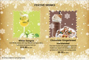 Coffee Club Christmas Dining Promotions festive drinks