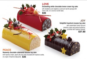 Coffee Club Christmas Dining Promotions Log cakes