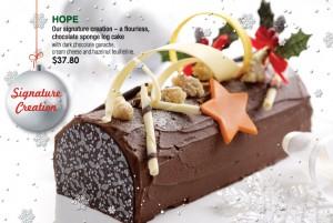 Coffee Club Christmas Dining Promotions chocolate log cakes