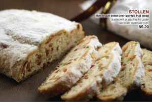 Coffee Club Christmas Dining Promotions stollen