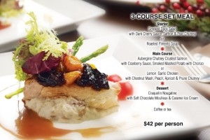 Coffee Club Christmas Dining Promotions 3 course festive meal