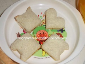 Daiso sandwich cutter prior decor
