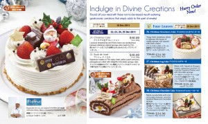 Meidiya Japanese supermarket Christmas promotions flor cakes