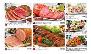 Meidiya Japanese supermarket Christmas promotions ham & salad