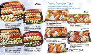 Meidiya Japanese supermarket Christmas promotions sushi sashimi platter